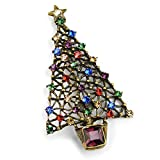 Sweet Romance Swarovski Christmas Tree Pin/Brooch