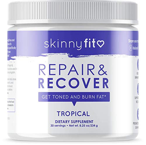 SkinnyFit Repair & Recover 30 Servings, BCAA Powder for Women, Branched Chain Amino Acids, Pre Intra Post Workout Supplement for Endurance, Muscle Recovery Boost Growth, Tropical Flavor