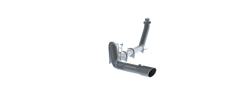 Single Side Exit No Muffler MBRP S61120PLM 5 Aluminum Turbo Back for Dodge Diesel