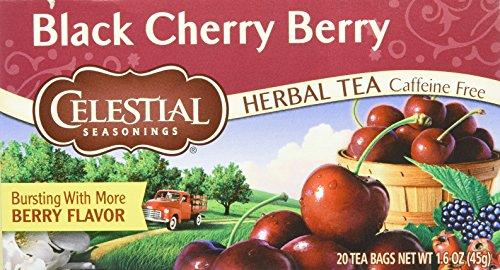 Wild Cherry Black Tea - Celestial Seasonings Tea Herb Black Cherry Be
