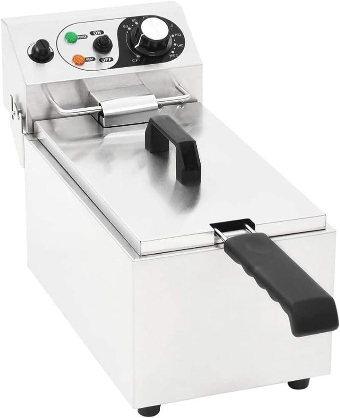Tuduo - Freidora eléctrica de acero inoxidable, 6 L, 2000 W, freidora de aceite: Amazon.es: Hogar