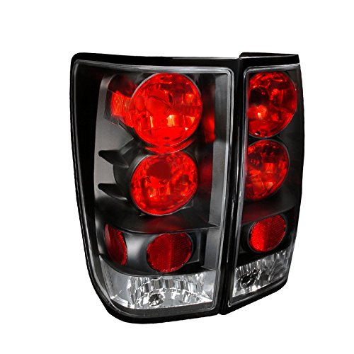 Nissan Titan Tail Lamp - Spec-D Tuning LT-TIT04JM-TM Nissan Titan Black Altezza Tail Lights Lamps