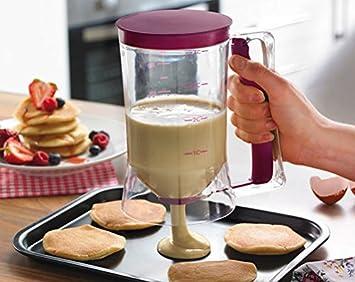No Mess masa y mezcla dispensador de con mango de fácil dispensador - pasteles, magdalenas y tortitas: Amazon.es: Hogar