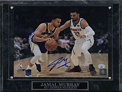 Jamal Murray Signed Autographed 8x10 Photo with Plaque - Defending Curry