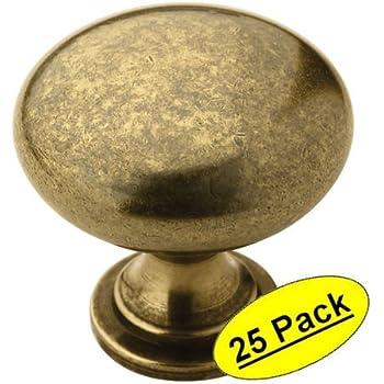 Amerock BP53005-BB Allison Burnished Brass Round Cabinet Knob 25 Pack