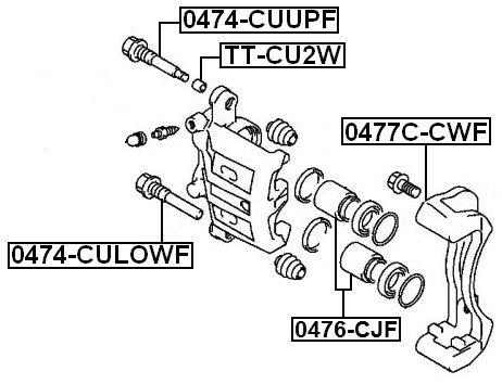 Febest Mb618227 Pin Slide For Mitsubishi