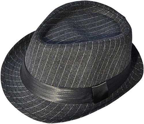 Simplicity Short Brim Teardrop Crown Wool Blend Fedora Hat 3075_Charcoal Gy (1920 Gangster Costumes)