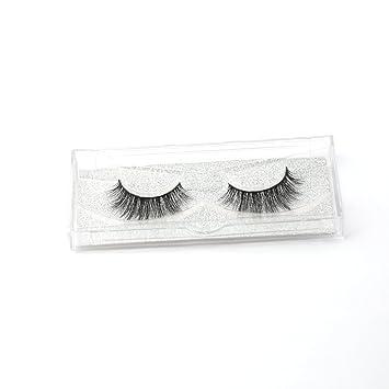 92def68a185 Amazon.com : Dramatic 3D Mink Hair False Eyelashes Eye Makeup Lashes  Extensions Mink Fur Hand Made Fake Eyelash : Beauty