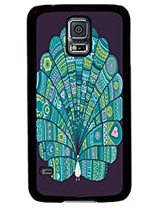 New Design Peacock at noon Cute Samsung Galaxy S5 I9600 TPU Black Case Cover