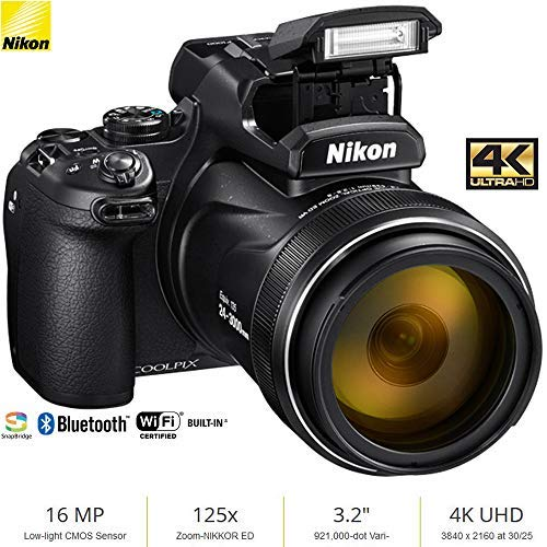 Nikon COOLPIX P1000 16MP 125x Super-Zoom Digital Camera (26522) - (Renewed)