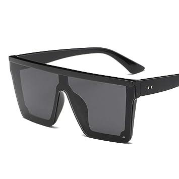 QDE Gafas de sol Gafas De Sol Cuadradas Extragrandes Hombres ...