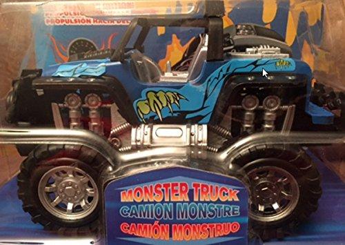 Blue Monster Truck (Jeep Big Wheel Monster Truck - Blue)