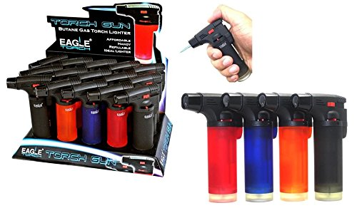 Eagle Side Torch Refillable Lighter 15per Tray