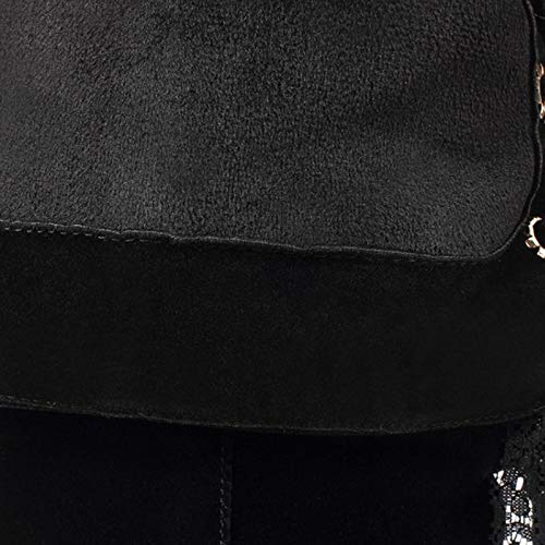 HAOLIEQUAN damen Thigh High Stiefel Winter Winter Winter Zipper schuhe Woman Fashion Bowknot High Heel Stiefel String Bead Warm schuhe Größe 33-43 1345f9