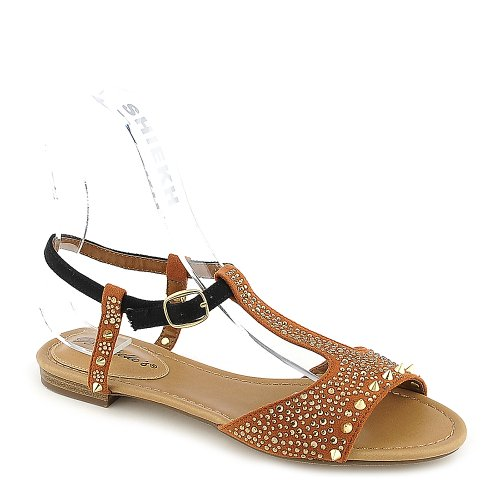 Breckelles Womens Deena-01 Sandal - Tan Størrelse 10 ...