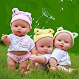 Happy Mothers' Day,Vinmax Realistic Great to Reborn Baby Doll,Baby Kids Reborn Baby Doll - Soft Vinyl Silicone Lifelike Sound Laugh Cry Newborn Baby Toy for Boys Girls Birthday Gift (Green)