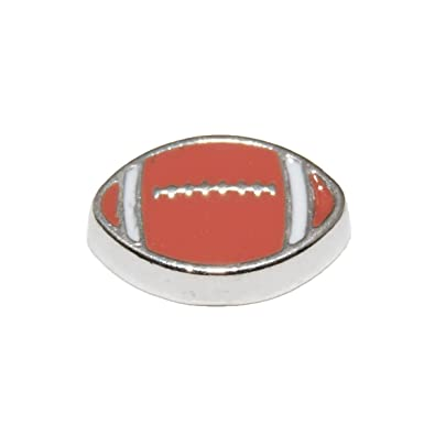 rugby ball 7mm floating charm will fit living memory lockets and