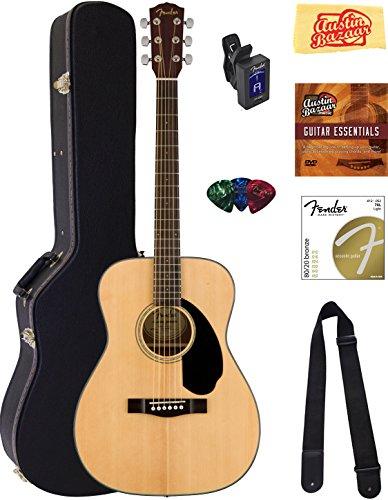 fender-cc-60s-concert-acoustic-guitar-natural-bundle-with-hard-case-tuner-strap-strings-picks-instru