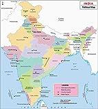 India Political Map (36'' W x 40.69'' H)
