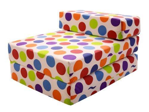 gilda invit lit spotty tissu de coton chauffeuse drouler lit dappoint fauteuil lit pliant matelas amazonfr cuisine maison - Lit D Appoint Enfant