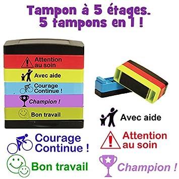 Französisch Kennzeichnung Stempel zu 5 Etagen. 5 Stempel in 1. Mut ...