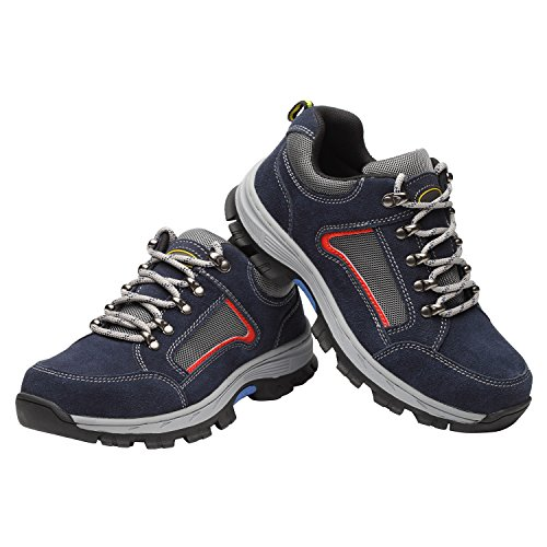 Optimal Blue Work Shoes Steel Toe Shoes Shoes Men's Safety Blue r6txwFqr1z