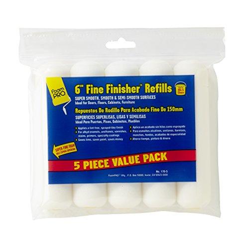 FoamPRO 176-5 Fine Finish Mini Roller Refills (High-Density Foam) (5 Pack), 6