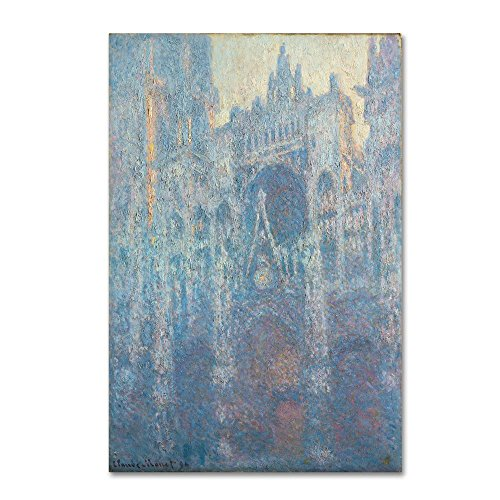 The Portal Of Rouen Cathedral in Morning Light by Claude Monet, 30x47-Inch Canvas Wall Art