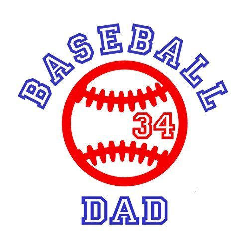 Baseball Decal Vinyl Sticker (Baseball Dad, Mom or Name Vinyl Decal Sticker, Personalized, Color, Size Options - For Car Windows, Cups, Coolers)