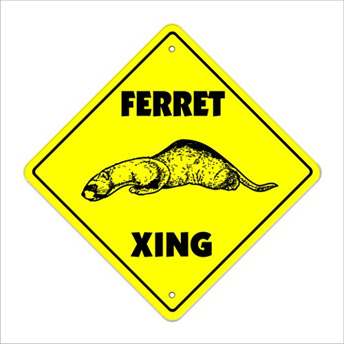 Ferret Crossing Sign Zone Xing | Indoor/Outdoor | 20