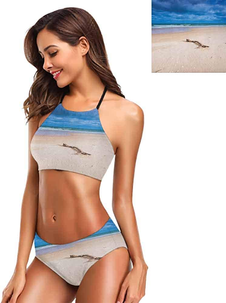 B086J5TLB3 Beachwear Swimwear Spread Skittles Blue Ball on a Wooden Floor Moment of Crash Themed Print Casual Beachwear 51y9Pg5jwhL