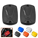 Heinmo Motorcycle Brake Fluid Fuel Reservoir Tank Cap Cover for YAMAHA T-Max 500 2008-11 TMax 530 2012-14