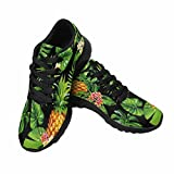 InterestPrint Women's Road Running Walking Shoes Tropical Palm Leaves and Flowers US 9 Review
