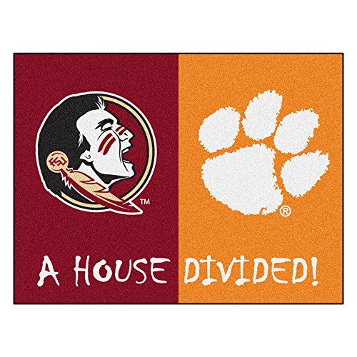 - NCAA House Divided - Florida State/Clemson House Divided Non-Skid Mat Rectangular Area Rug