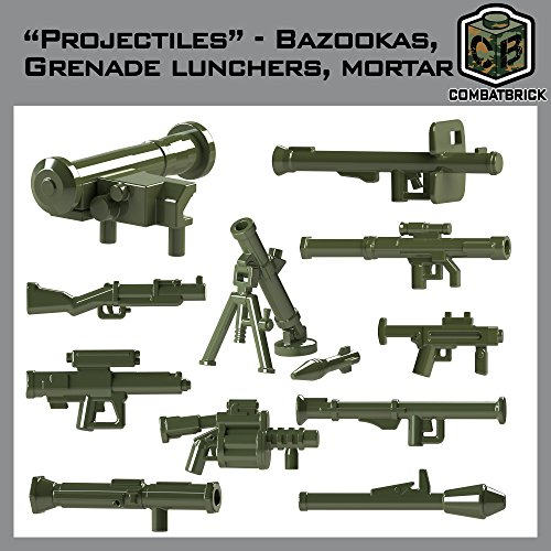 CombatBrick Projectiles Set: bazookas, Grenade launchers, Mortar. Custom Modern Warfare 2