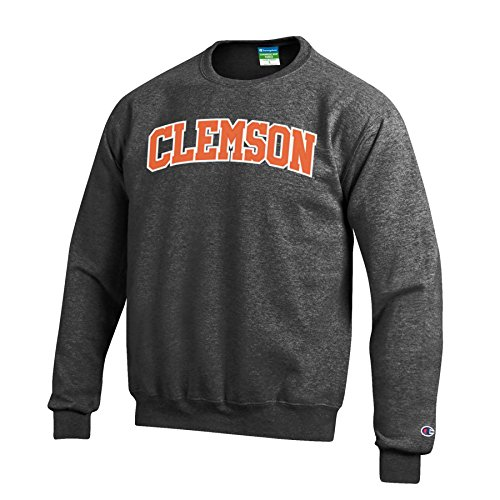 Champion Men's Eco Powerblend Crew Neck Sweat Shirt, Gray, Medium