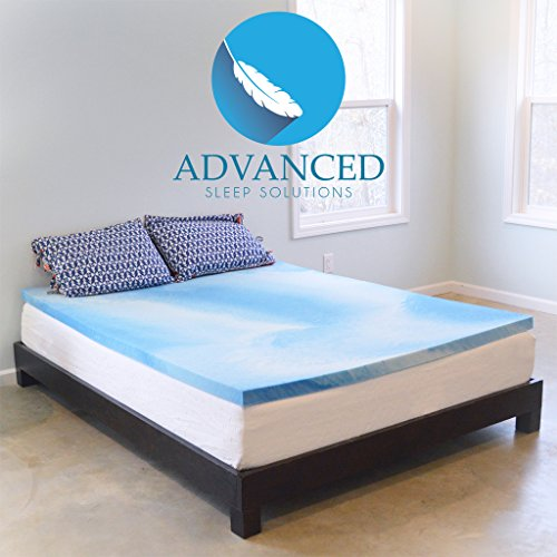 Advanced Sleep Solutions Gel Memory Foam Topper, Twin XL Size 2 Inch Thick, Ultra-Premium Gel-Infused Memory Foam Mattress/Bed Topper for Cooling, Conforming, and Comfort. Made in The USA