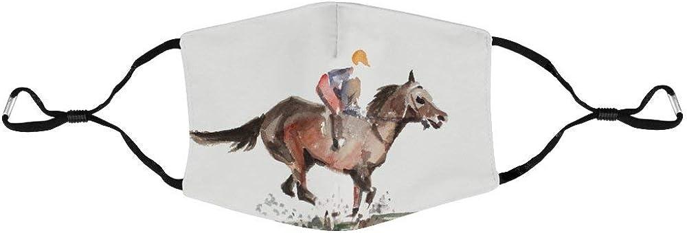 DKISEE - Máscara unisex para caballos de carreras antipolvo, ajustable, máscara protectora para exteriores
