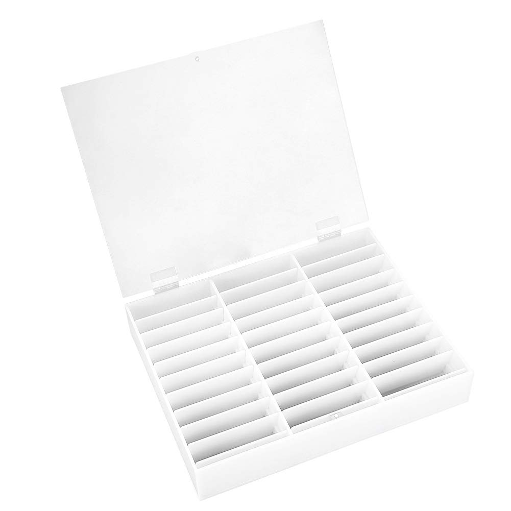 Nail Storage Box, Display Box Nail Art Decoration Container Empty Nail Tips Storage Box Fake Nail Display Case(White) by Semme