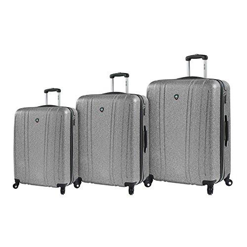 Mia Toro Italy Annata Hardside Spinner Luggage 3pc Set, Silver
