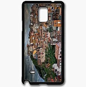 Unique Design Fashion Protective Back Cover For Samsung Galaxy Note 4 Case Caccamo Village Sicily Italy Black