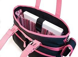 Mobile Edge Komen Eco-Friendly Tote, Black with Pink Trim (Fits 16-Inch PC/17-Inch Mac)
