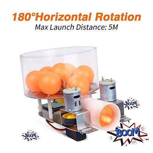 Robot Turret Kit Fight Against Cannon Platform with PS2 Handle, High Capacity Magazine, 180°Horizontal Rotation, Long Range