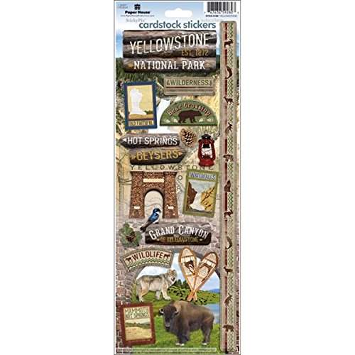 - Paper House Productions STCX-0189E Travel Cardstock Stickers, Yellowstone