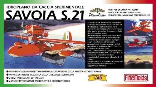 【 サボイア S.21 試作戦闘飛行艇 】1/48 組み立てキット ジブリアニメ 紅の豚 faFG1/ 機体内部やエンジンも再現しました。ポルコのフィギュア付き B01GOHB96Q