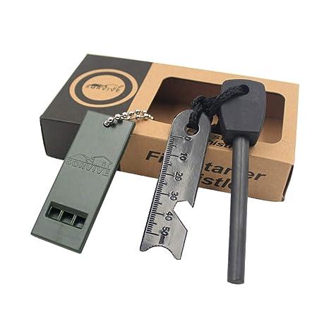 ALOUCH Fire Starter Un Kit más Ligero del arrancador de Fuego del pedernal del magnesio de