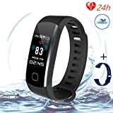 Fitness Tracker, Smart Activity Tracker With Sleep Monitor, Continuous Heart Rate Monitor, Calorie Burn Tracker, Pedometer, Multi-Color Screen Display, Blood Pressure Test, Compatible Ios And Android