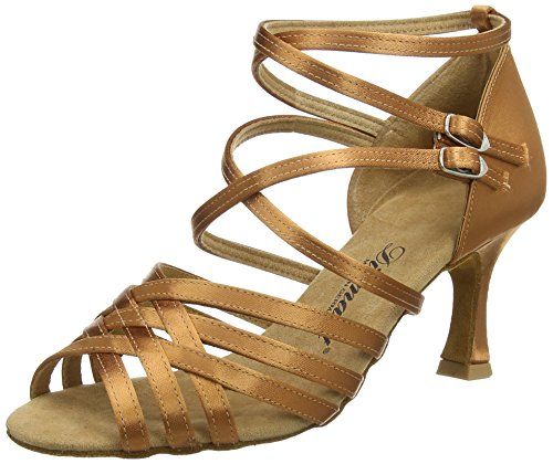Tanzschuhe Latein Femme Diamant Danse Chaussures Braun 379 de Dark 087 Tan 108 Damen Salon de EqFxwFP5