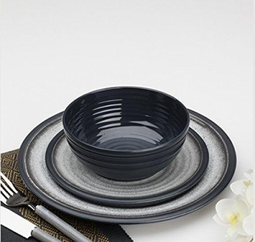 Flamefield Granite 12 Piece Melamine Tableware Dinner Picnic Set