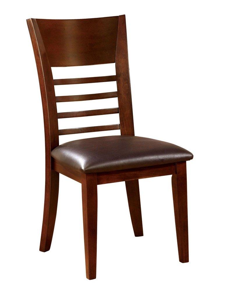 247SHOPATHOME IDF-3916SC Dining-Chairs, Brown Cherry